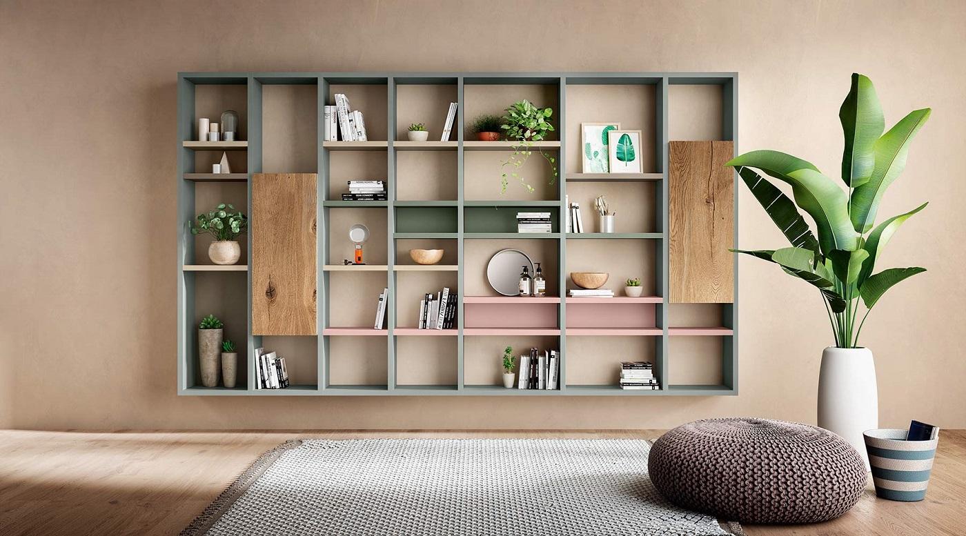 Libreria Bifacciale A Soffitto librerie e scaffali | luxury & design