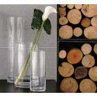 ADRIANI & ROSSI - Vaso cilindrico in vetro alto Ø 20 cm