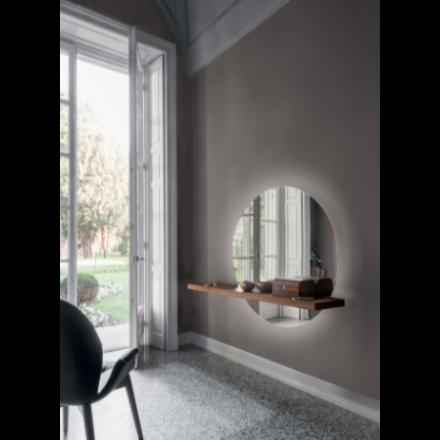 TONIN CASA Sunset 7501 - Mirror with Veneer Wood Shelf