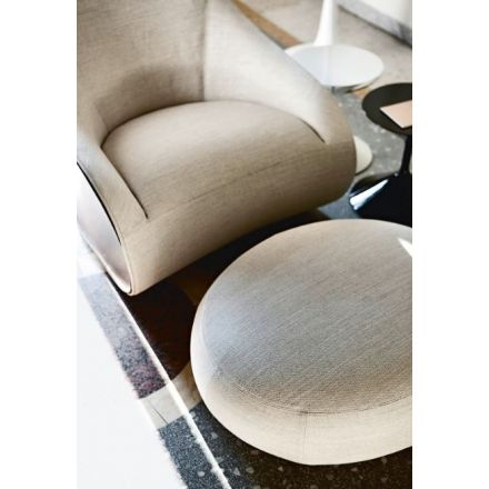 """Zanotta """"Derby"""" 875 - Pouf with steel structure. Removable external cover in fabric or leather. - Made in Italy, Italian design, online furniture, home decor, modern furniture shop,luxury home, decor your home, interior design shop, home shop on line"""