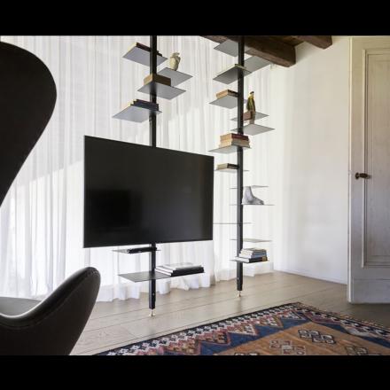 MOGG Adelaide TV metal - TV support for vertical bookshelf in metal