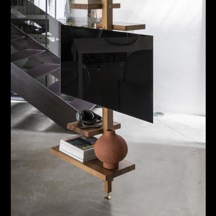 MOGG Adelaide TV wood - TV support for vertical bookshelf in wood
