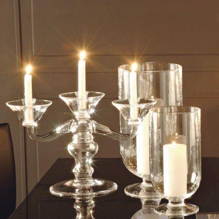 adriani e rossi candeliere da tavolo vetro soffiato design made in italy vienna trio