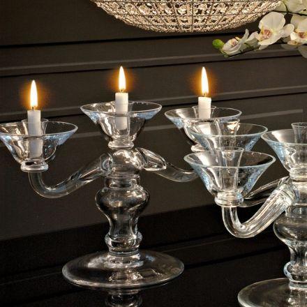 adriani e rossi candeliere da tavolo vetro design made in italy casanova
