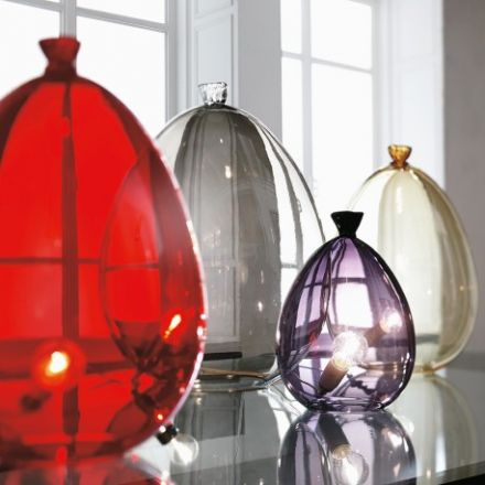 "ADRIANI & ROSSI - Venetian blown glass table lamp - ""Balloon Table"" (configurable)"