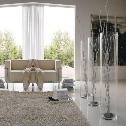adriani e rossi vaso cilindro gladiolo glass made in italy design fiori c20