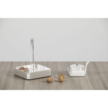 Vesta Home - Antipastiera quadra in cristallo acrilico LIKE WATER