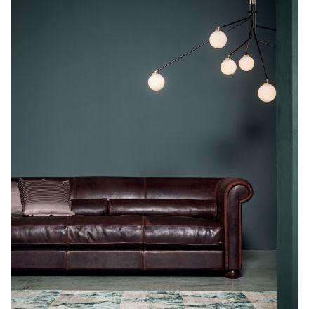 Alfred Baxter divano pelle vintage - Luxury & Design