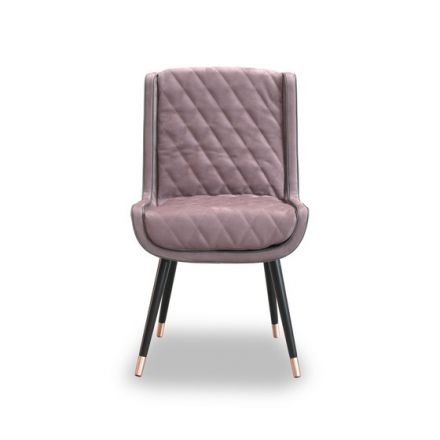 """Baxter """"Dolly Baby"""" - Sedia in acciaio, rivestimento effetto traputanto. - Made in Italy, design italiano, arredamento on line, home decor, arredamento design, arredamento moderno, arreda la tua casa, home design, arredamento di lusso"""