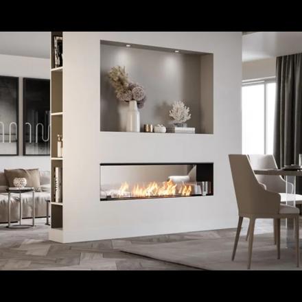 Biokamino Linea BKBF-B - Double-sided built-in bio-fireplace