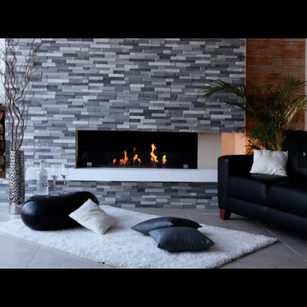 Biokamino Linea BKBF-M - Single-sided built-in bio-fireplace