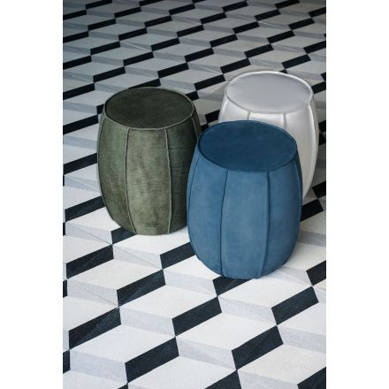 """BAXTER """"Bongo"""" - Leather pouf with covering with seams to alive thread. - Made in Italy furniture, online furniture, home decor, modern furniture shop,luxury home, decor your home, interior design shop, home shop on line"""