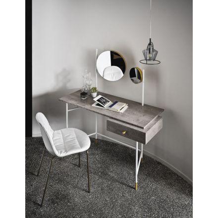 """BONTEMPI """"Vanity"""" 06.44 - Scrivania-consolle con specchio e luce, in diverse varianti. - Made in Italy, design italiano, arredamento on line, home decor, arredamento design, arredamento moderno, arreda la tua casa, home design, arredamento di lusso"""
