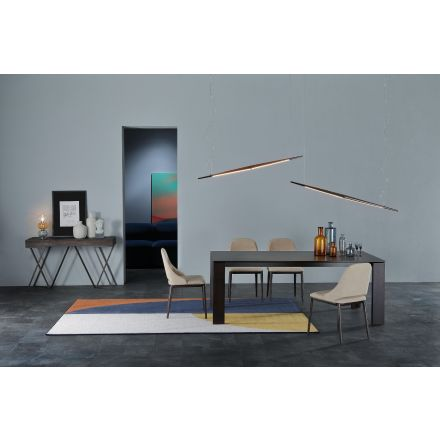 Tonin Casa Brooklyn - Fixed table with ceramic or glass porcelain top
