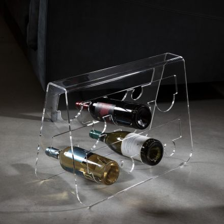 Vesta Home - Bottle holder in transparent acrylic crystal CANTINA