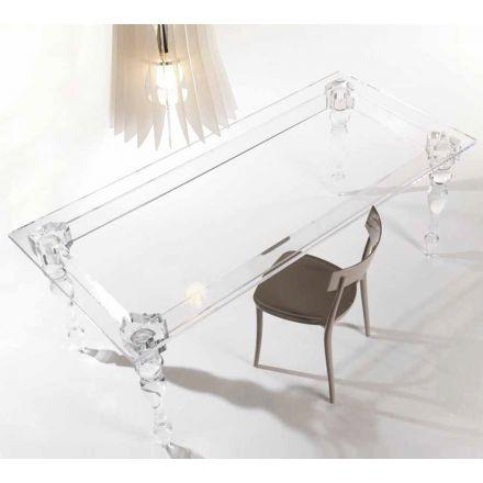 """Colico """"Oste"""" - Tavolo fisso rettangolare con struttura in metacrilato da 2 cm. - Made in Italy, design italiano, arredamento on line, home decor, arredamento design, arredamento moderno, arreda la tua casa, home design, arredamento di lusso"""