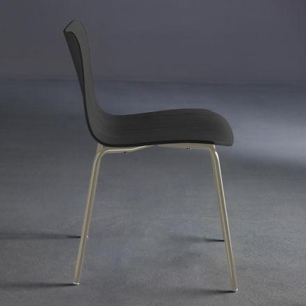 COLICO Dandy.b - Seduta in legno con struttura in acciaio