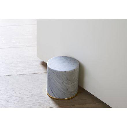 """OPINION CIATTI """"Fermaporte"""" - Fermaporte cilindrico in marmo con anello in oro 24k. - Made in Italy, design italiano, arredamento on line, home decor, arredamento design, arredamento moderno, arreda la tua casa, home design, arredamento di lusso"""
