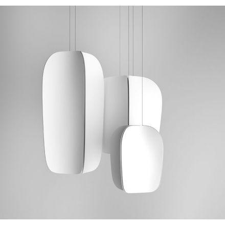 Vesta Design - Lampada a sospensione flip in acciaio inox