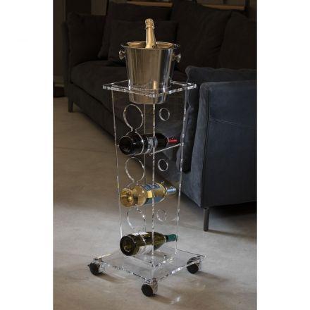 Vesta Home - Acrylic crystal bottle holder ICE TOWER