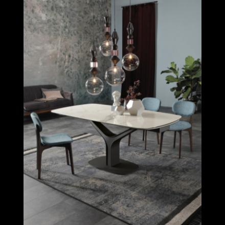 Tonin Casa Ariston 8088F - Tavolo con Piano in Vetro Temperato o in Ceramica