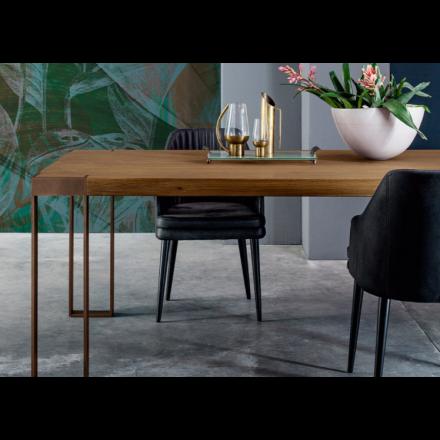 Devina Nais Frame - Tavolo con Piano in Rovere Massello