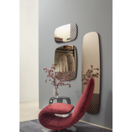 TONIN CASA Marguerite 6465 - Mirror with Wooden Incision