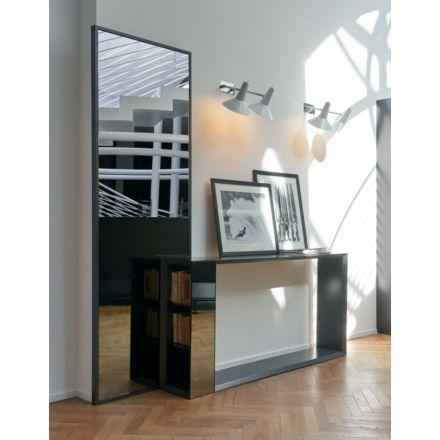 BMB Jan - Specchio da parete con cornice laccata opaca