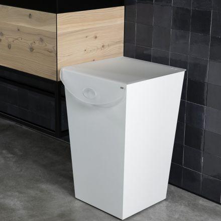 Vesta Home - Portabiancheria in legno verniciato bianco LAUNDRY
