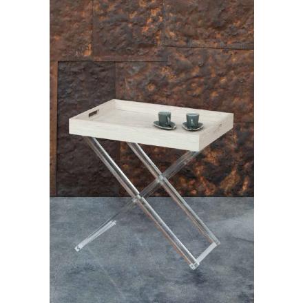 Vesta Design - Carrello Marcel in cristallo acrilico