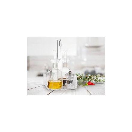 Vesta Home - Menage in cristallo acrilico trasparente LIKE WATER