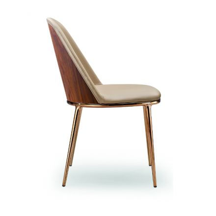 Lea S M Midj sedia da soggiorno in acciaio - Luxury & Design