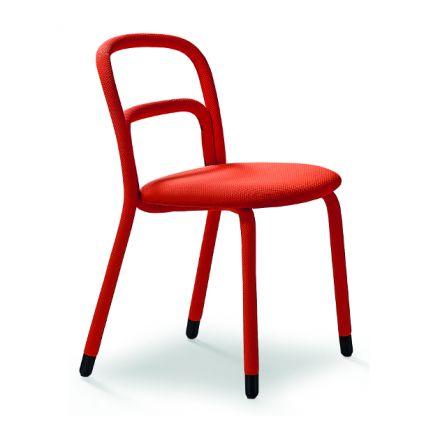 Pippi S MIDJ sedia in acciaio rivestita in tessuto - Luxury & Design