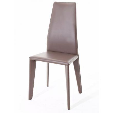 nss non solo salotti luxury karla sedia acciaio design made in italy compra arredamento sedie cuoio non solo salotti luxury colico