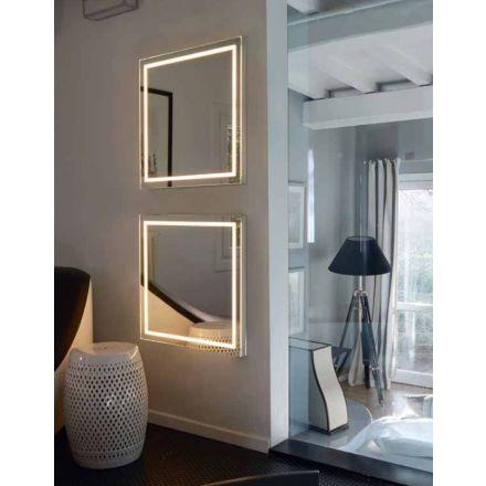BMB Nuxe - Specchio da parete con luce led perimetrale