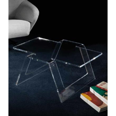 Vesta Design - Tavolino origami in cristallo acrilico