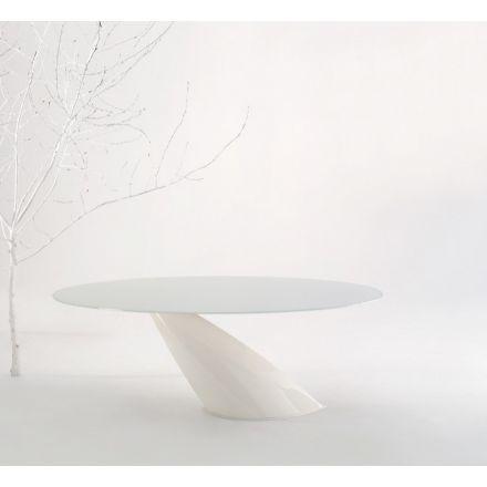 DOMITALIA Oslo - Tavolo ovale fisso - struttura in acciaio verniciato con piano in marmo | ceramica | vetro