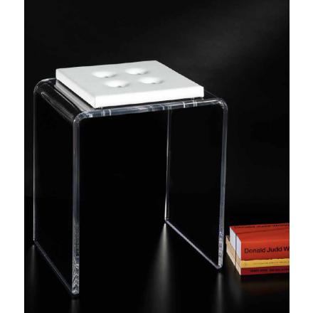 Vesta Design - Sgabello othello lino in cristallo acrilico