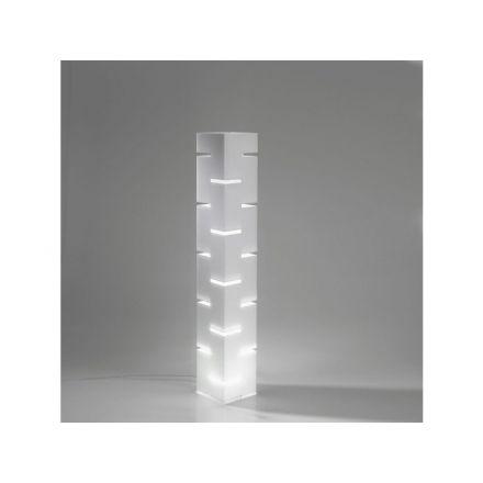 Vesta Design - Lampada da terra quadra in cristallo acrilico