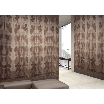 GLAMORA Riflesso - Vintage wallpaper with leaves