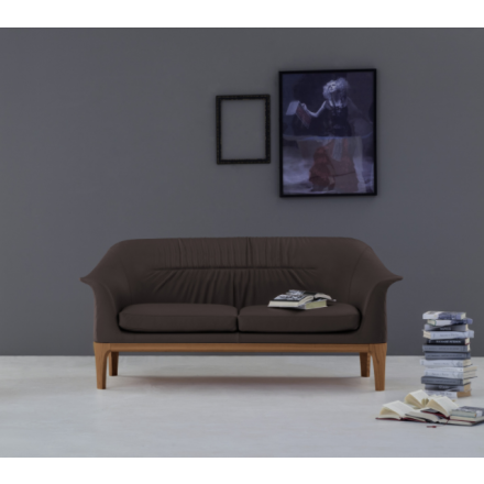 Tonin Casa Tiffany - Sofa with wood base and rhombus pattern