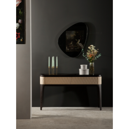 Tonin Casa Tiffany - Console with two drawers and rhombus pattern