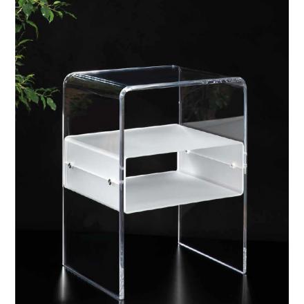 Vesta Design - Comodino vega in cristallo acrilico