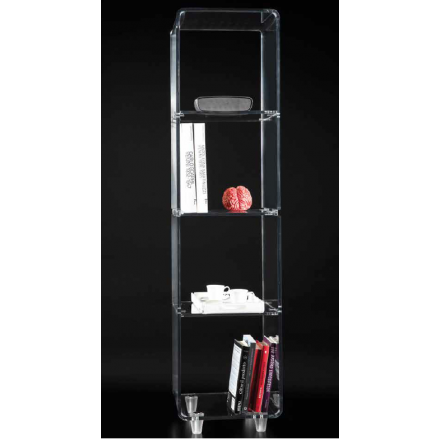 Vesta Design - Mobiletto vega tower in cristallo acrilico