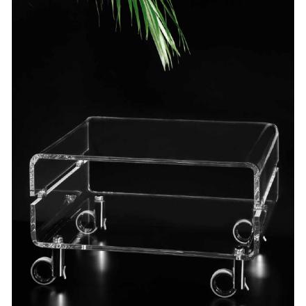 Vesta Design - carrello vega tv in cristallo acrilico