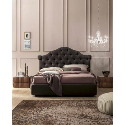 Tonin Casa Veneziano - Upholstered bed with Capitonnè headboard