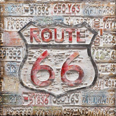 Dipinto a mano su tela route 66 80cm*80cm