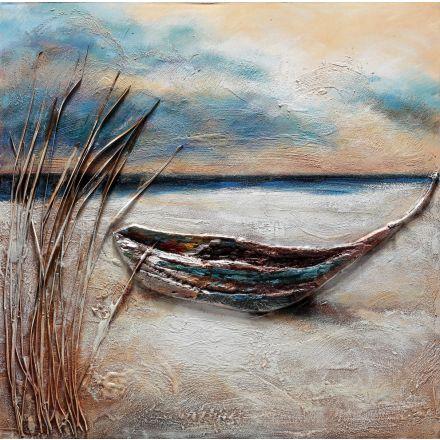 Dipinto a mano su tela barca 66 80cm*80cm