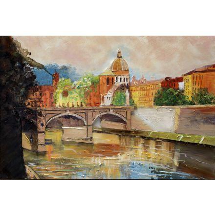 Dipinto a mano su tela paesaggio 60cm*90cm
