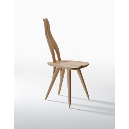 """ZANOTTA - Sedia con struttura in legno massello. - """"Fenis"""" 2051"""